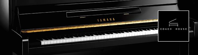 Yamaha upright piano pano with logo sm